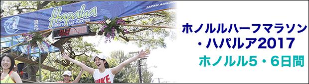 &lt;2017年4月9日開催&gt;ホノルルハーフマラソン・ハパルアツアー<br>ホノルル5・6日間